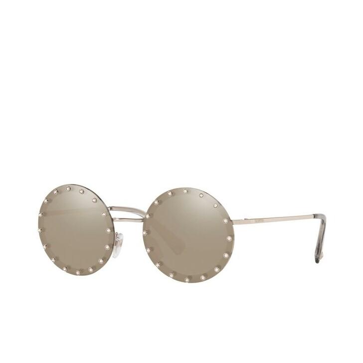 Sonnenbrille, Valentino, Women Sunglasses Individual 0VA2010B Silver Gold Plated
