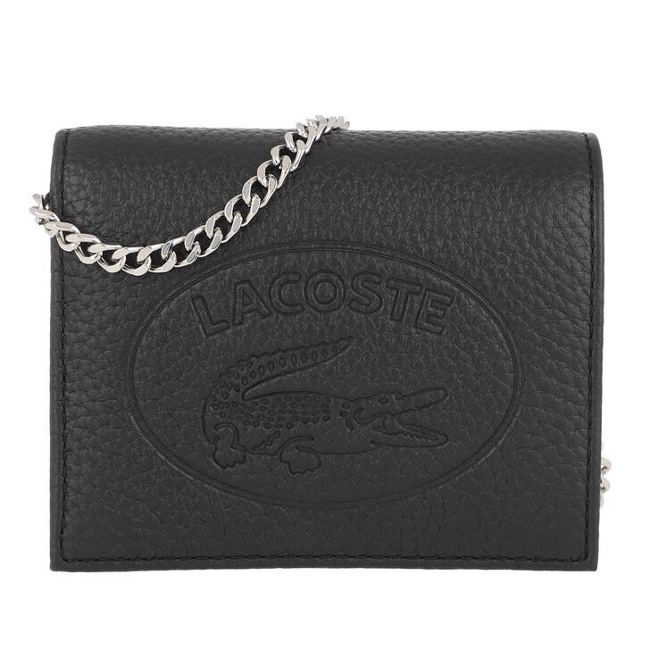 Geldbörse, Lacoste, Croco Crew Phone Wallet Black