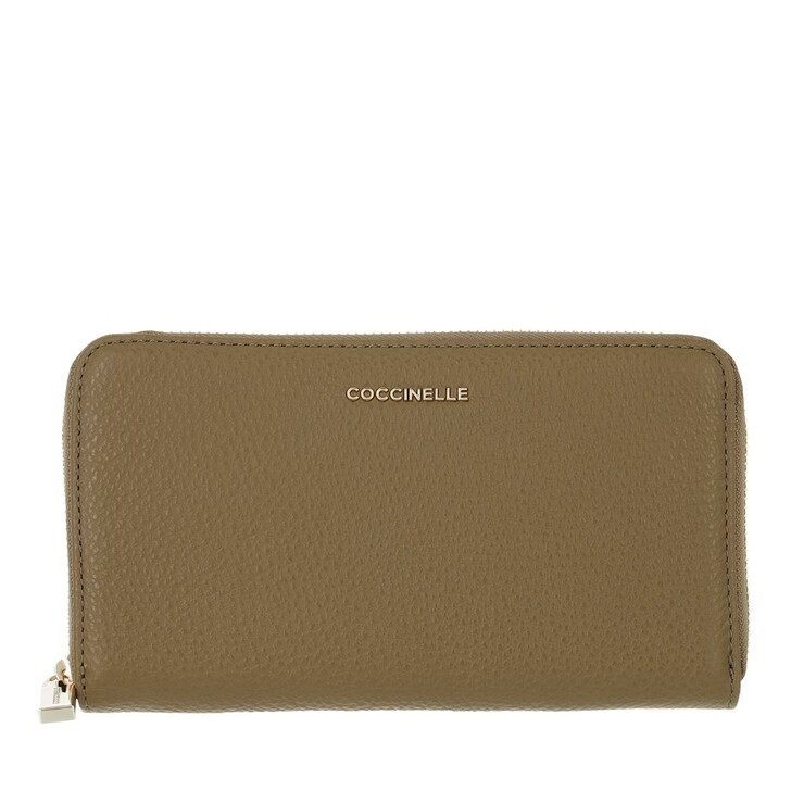 wallets, Coccinelle, Wallet Grainy Leather  Moss Green