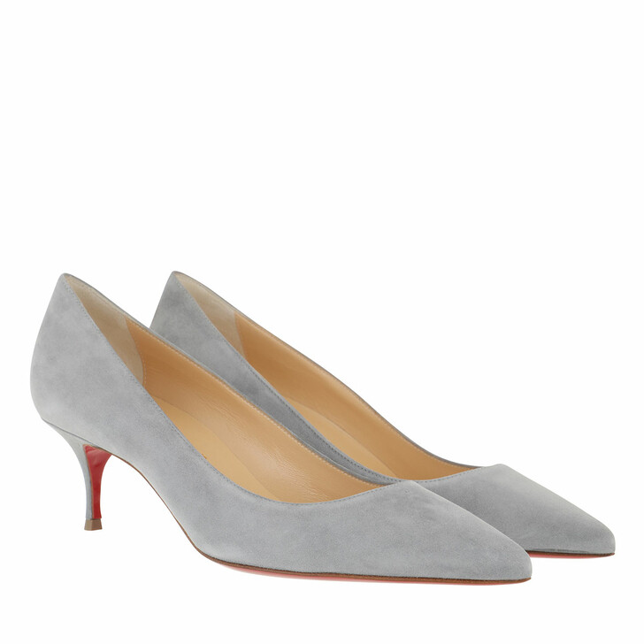 Schuh, Christian Louboutin, Kate 55 Veau Velours Pumps Brest Grey