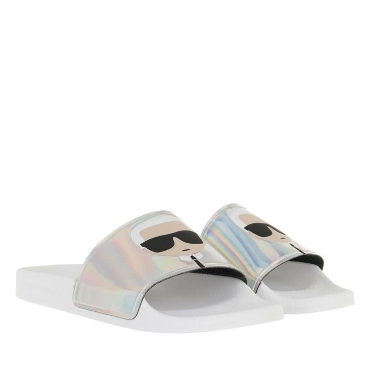 Schuh, Karl Lagerfeld, KONDO II Ikonic Slide Iridescent Rubber