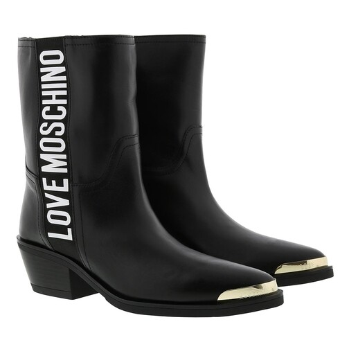 love moschino -  Boots & Stiefeletten - Texano Ankle Boot Vitello - in schwarz - für Damen