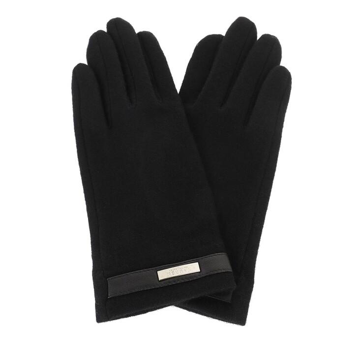 gloves, Lauren Ralph Lauren, Belted Glove Black
