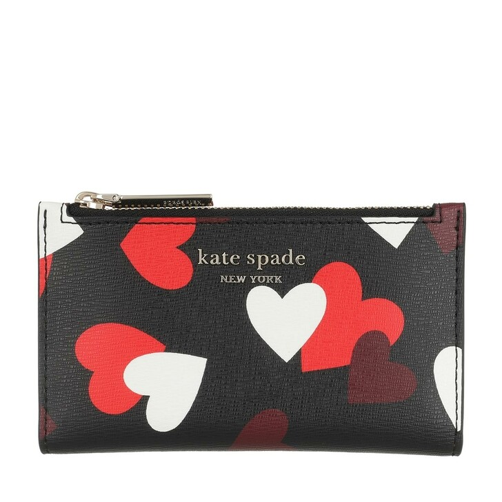 Geldbörse, Kate Spade New York, Small Bi Fold Wallet Black Multicolor
