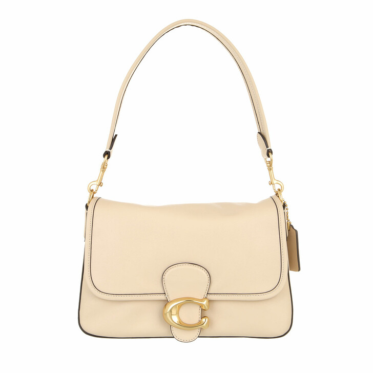 bags, Coach, Soft Calf Leather Tabby Shoulder Bag Ivory