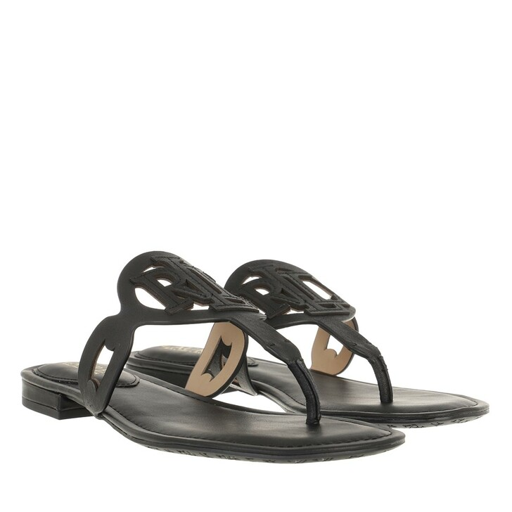 Schuh, Lauren Ralph Lauren, Audrie Sandals Flat Sandal Black