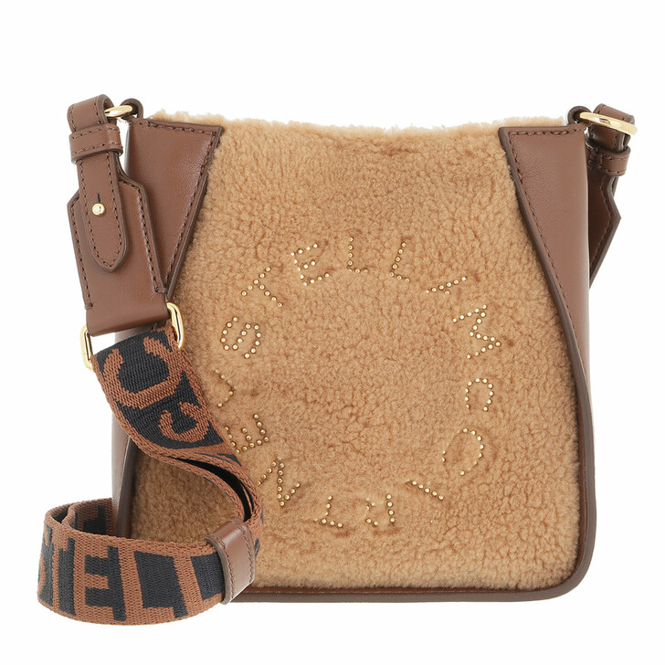 bags, Stella McCartney, Small Logo Hobo Bag Biscuit