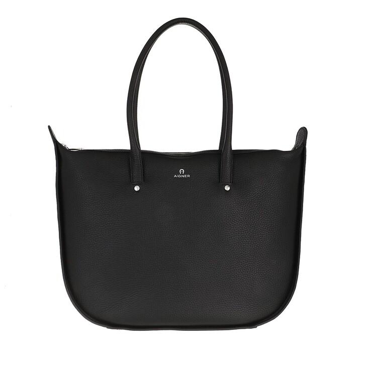 bags, AIGNER, Ivy Shopper Black