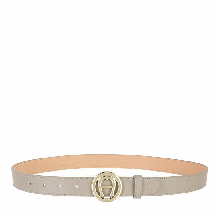 belts, AIGNER, Livia Belt 3 cm Clay Grey