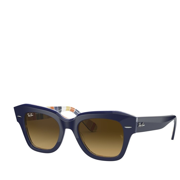 sunglasses, Ray-Ban, AZETAT UNISEX SONNE BLUE ON STRIPES ORANGE/BLUE