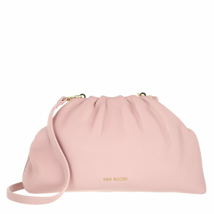 bags, Ted Baker, Dorieen Mini Gathered Slouchy Clutch Pale Pink
