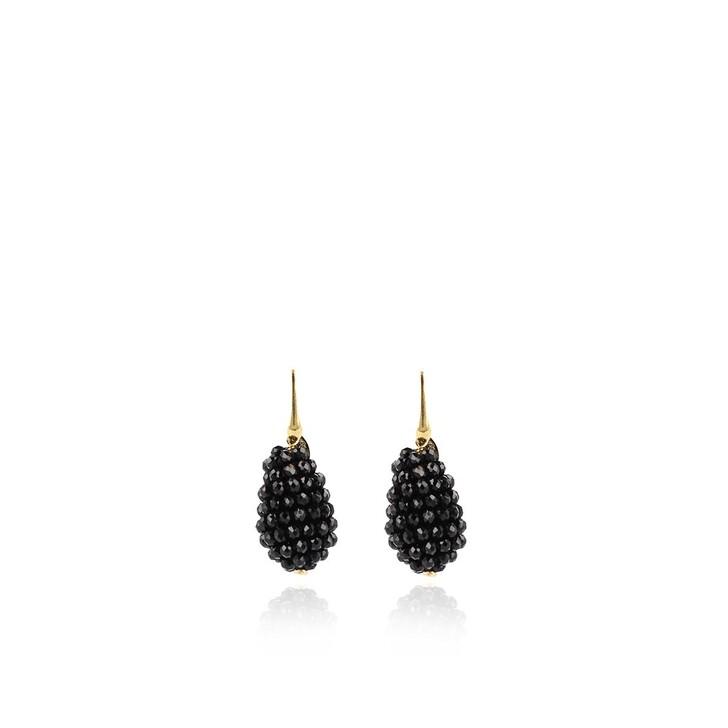 Ohrring, LOTT.gioielli, Earring Glassberry Cone S Black