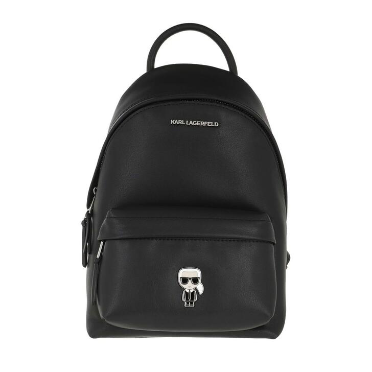 bags, Karl Lagerfeld, K/Ikonik Metal Pin Backpack Black