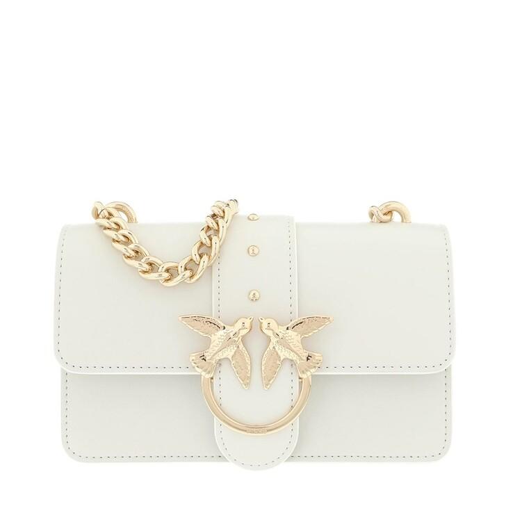 Handtasche, Pinko, Love Mini Simply Bag White
