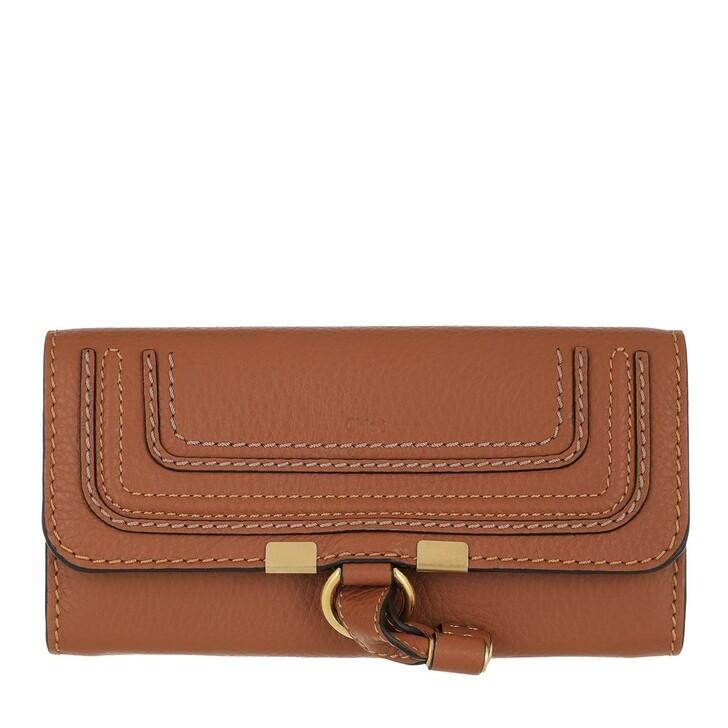 wallets, Chloé, Marcie Wallet Leather Tan