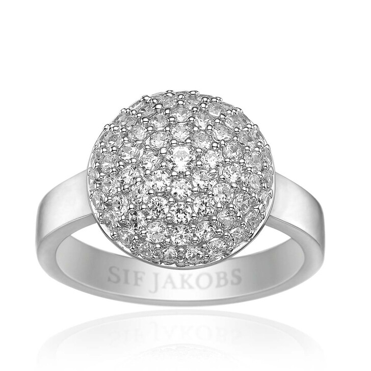 Ring, Sif Jakobs Jewellery, Milan Piccolo Ring White Zirconia 925 Sterling Silver