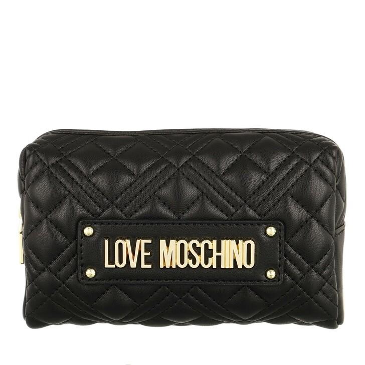 Geldbörse, Love Moschino, Bustina Quilted Nappa Pu  Nero