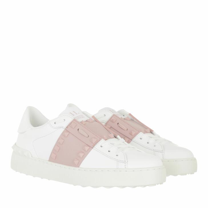 shoes, Valentino Garavani, Rockstud Sneakers White Rose