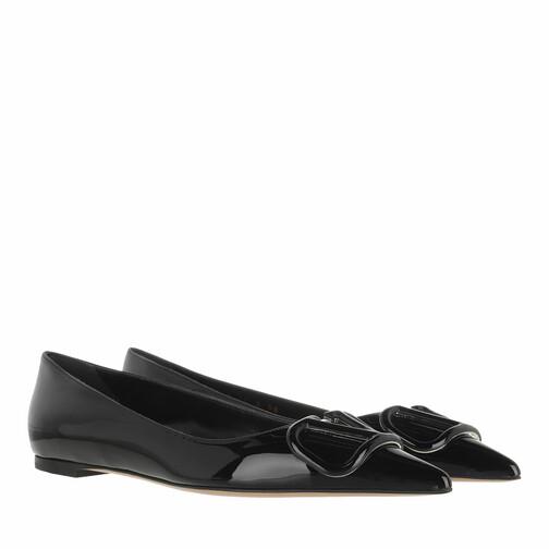 valentino garavani -  Loafers & Ballerinas - V Logo Flats Patent Leather - in schwarz - für Damen