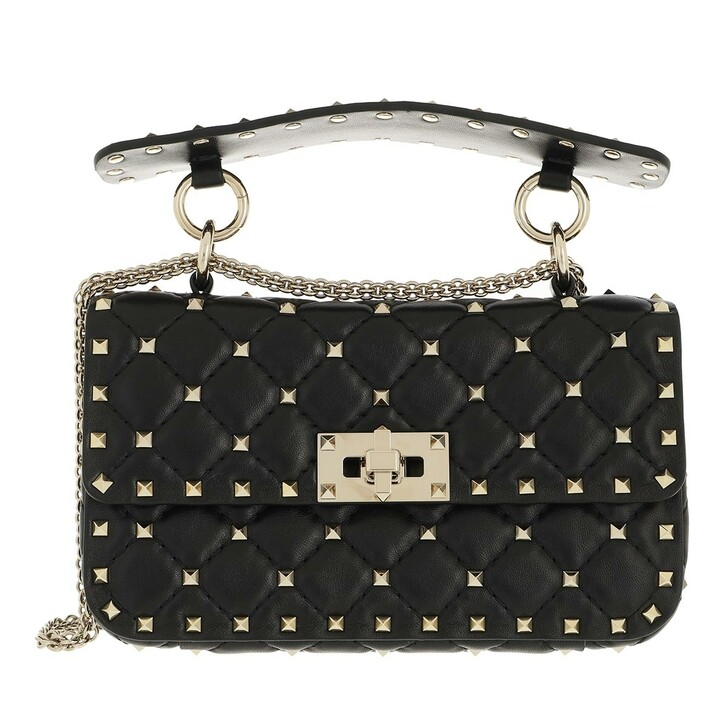 bags, Valentino Garavani, Rockstud Spike Crossbody Bag Small Black
