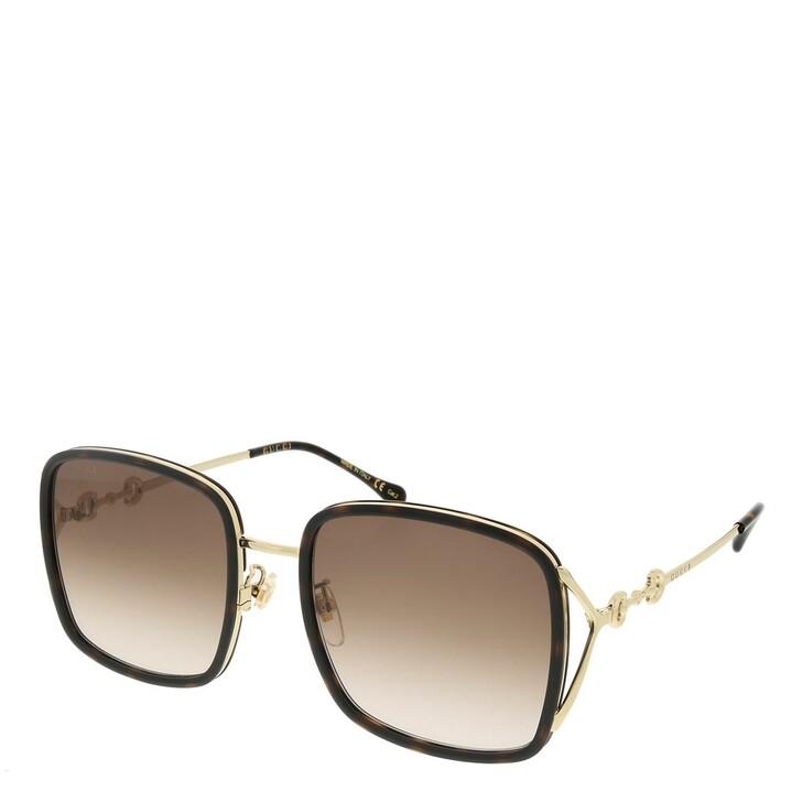 sunglasses, Gucci, GG1016SK-003 58 Sunglass Woman Injection Havana-Gold-Brown