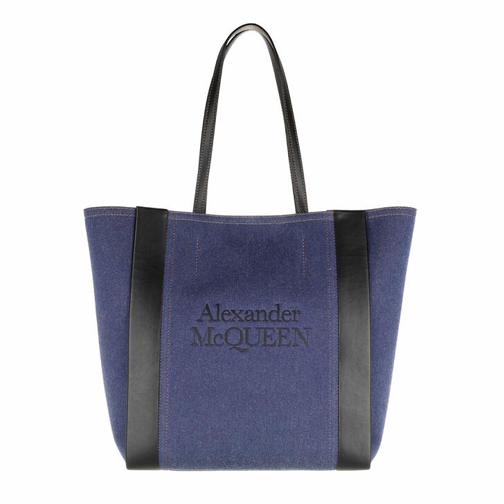 Handtasche, Alexander McQueen, Signature Shopping Bag Denim