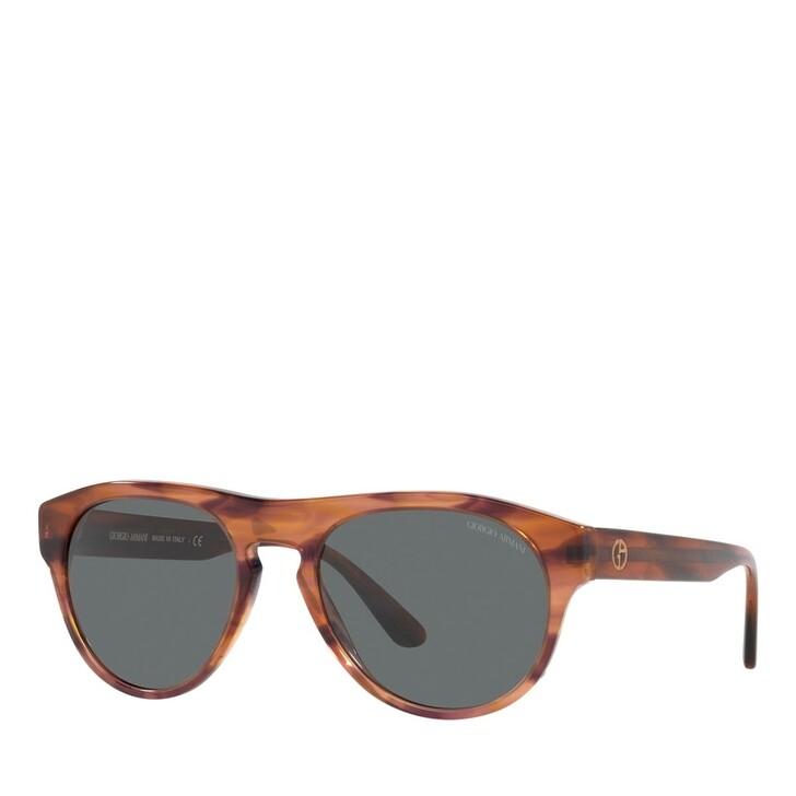 sunglasses, Giorgio Armani, 0AR8145 Striped Brown