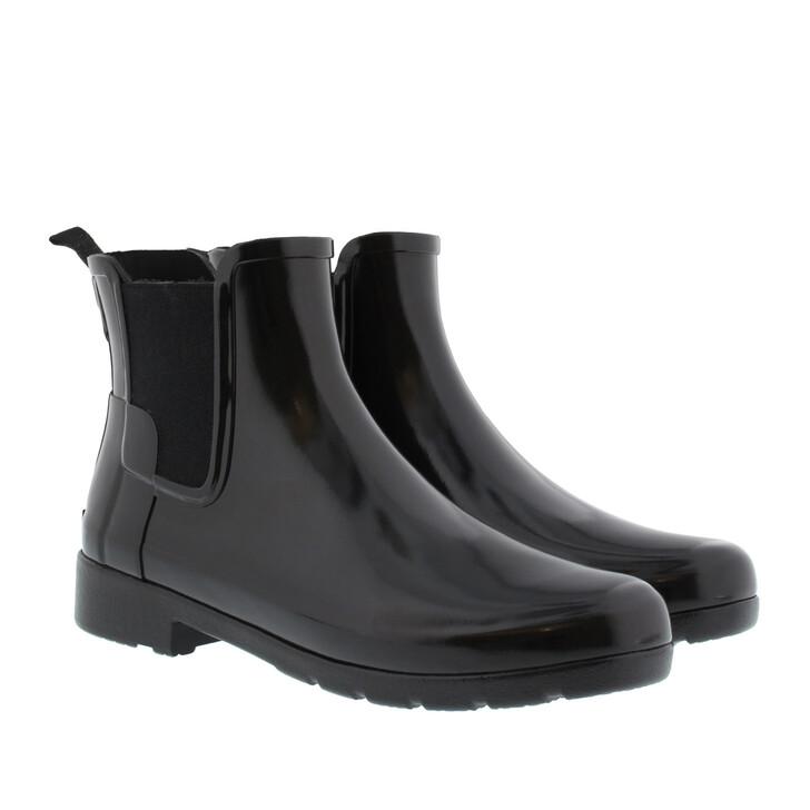 Schuh, Hunter, Women's Original Refined Chelsea Gloss Boots Black