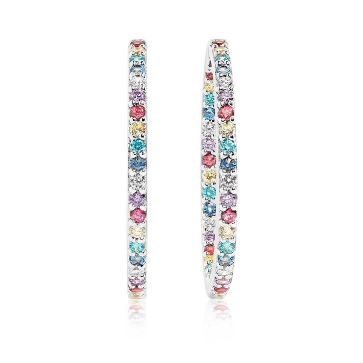 earrings, Sif Jakobs Jewellery, Bovalino Earrings Multicoloured Zirconia 925 Sterling Silver