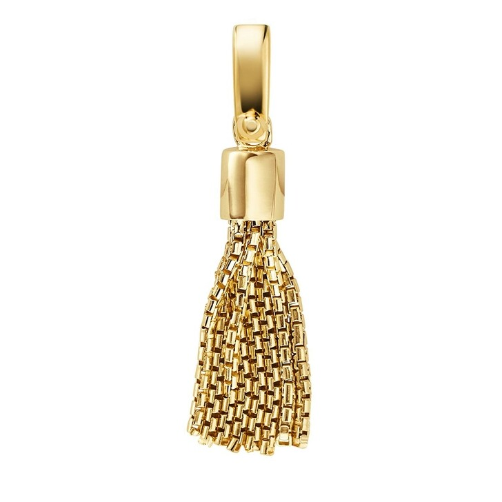 Anhänger, Michael Kors, Women's 14k Gold-plated Sterling Silver Tassel Cha Yellow Gold