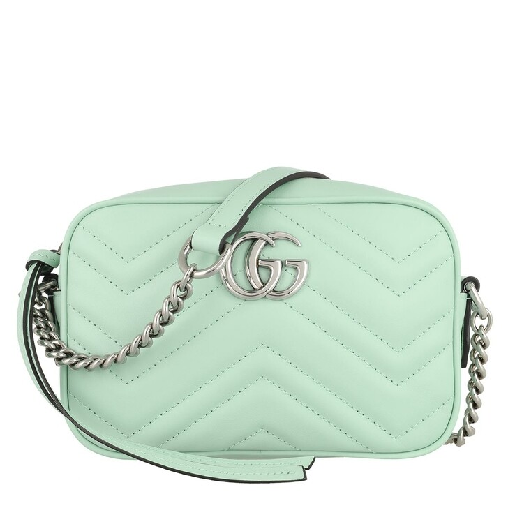 Handtasche, Gucci, Mini GG Marmont Shoulder Bag Leather Light Green