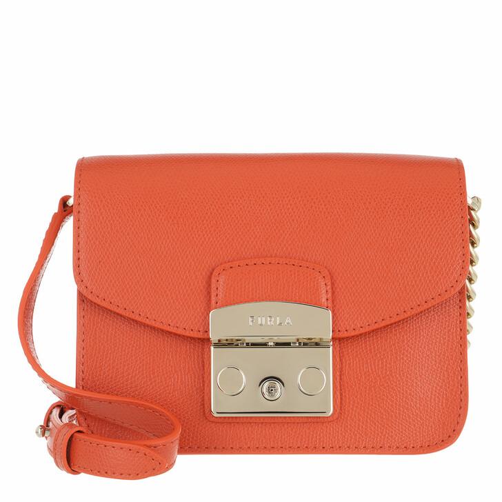 bags, Furla, Metropolis Mini Crossbody - Ares Tangerine