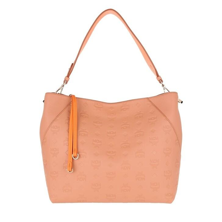 Handtasche, MCM, Klara Monogram Medium Hobo Bag Sandstone