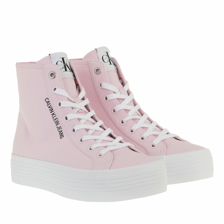 Schuh, Calvin Klein, Vulcanized High Lace Up Sneakers Pearly Pink