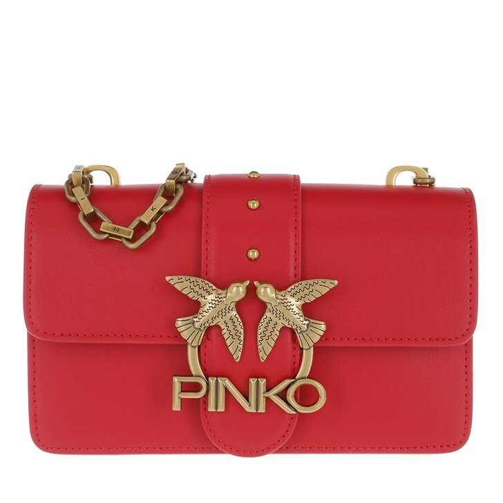 Handtasche, Pinko, Love Mini Icon Simply 5 Crossbody Pure Red