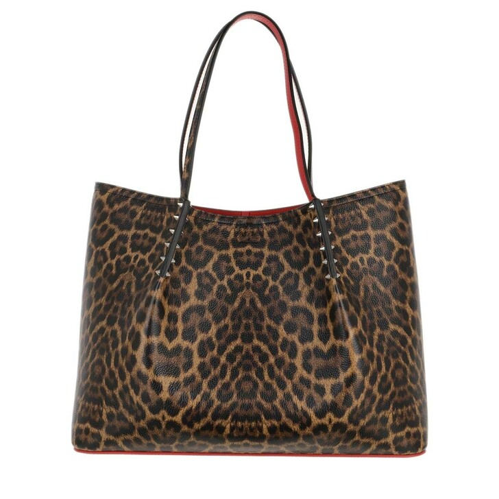 Handtasche, Christian Louboutin, Cabarock Large Empire Tote Bag Leo Brown