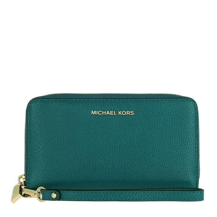 wallets, MICHAEL Michael Kors, Large Flat Multifunction Phone Case Dark Cyan