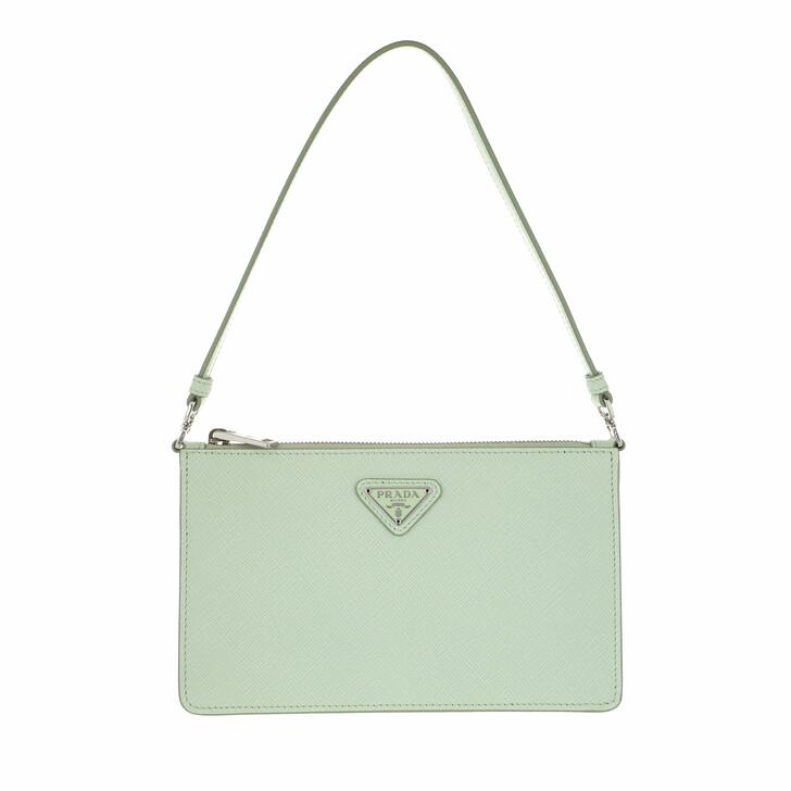 bags, Prada, Mini Saffiano Satchel Bag Aqua