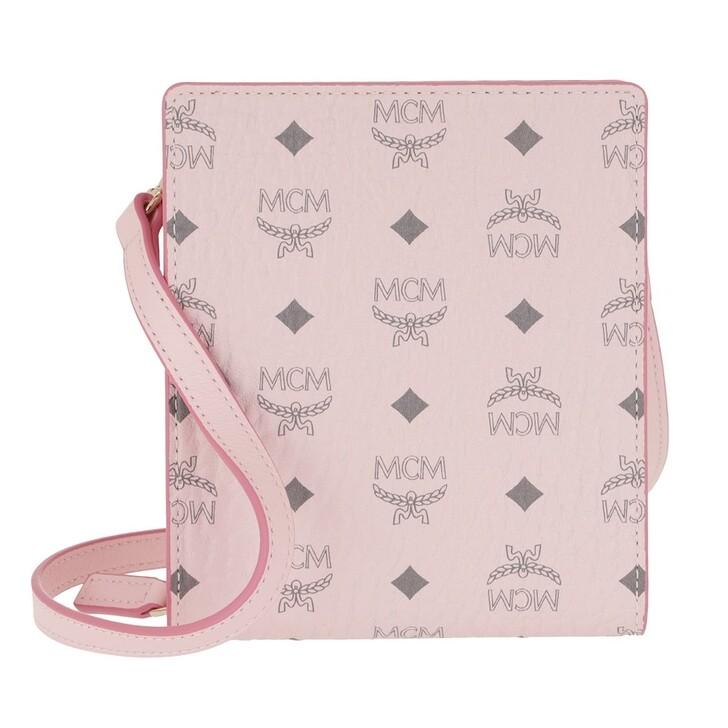 keyrings, MCM, Visetos Original New Multi Lanyard Powder Pink