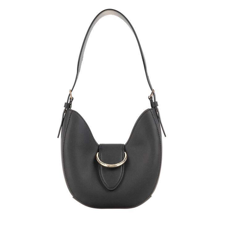 bags, Borbonese, Small Bridge Hobo Bag Black