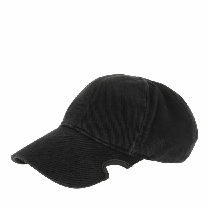 hats, Balenciaga, Logo Cap Black