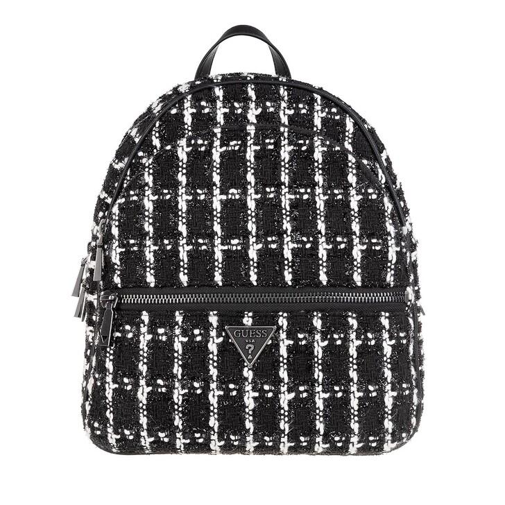 bags, Guess, Manhattan Large Backpack Black Tweed