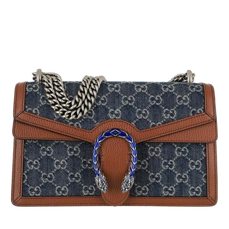 Handtasche, Gucci, Small Dionysus Crossbody Bag Blue Tea/Brown