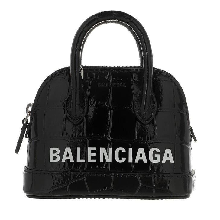 Handtasche, Balenciaga, Ville Mini Crossbody Bag Black White