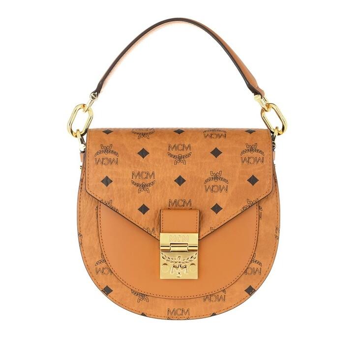 bags, MCM, Ptrc Visetos Shoulder Small   Cognac