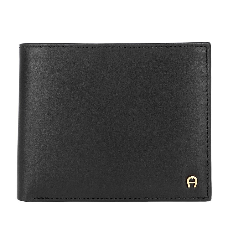 Geldbörse, AIGNER, Basic Wallet Leather Black