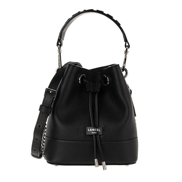 Handtasche, Lancel, Ninon Grained Leather Bucket Bag Small Black