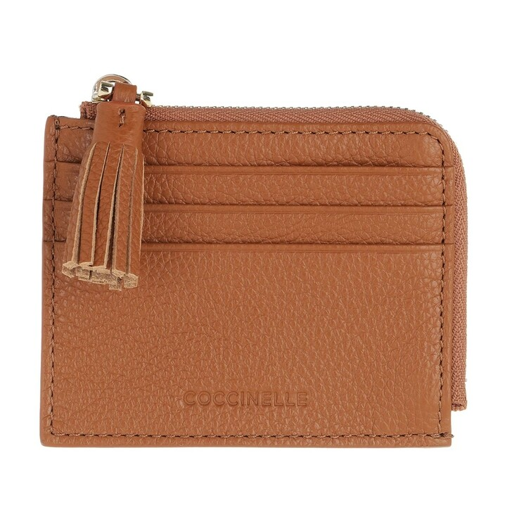 Geldbörse, Coccinelle, Tassel Wallet Leather  Caramel