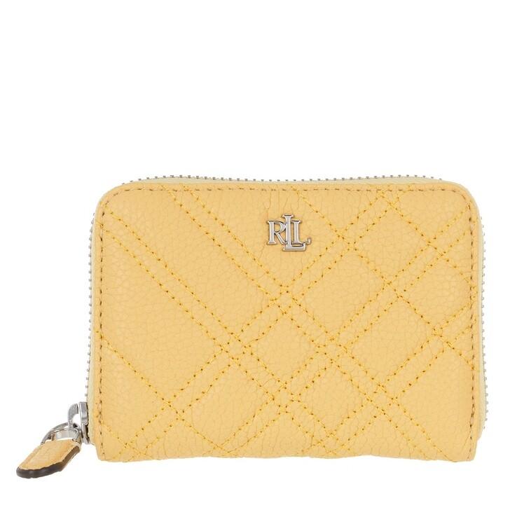 Geldbörse, Lauren Ralph Lauren, Sm Zip Wllet Wallet Small Beach Yellow