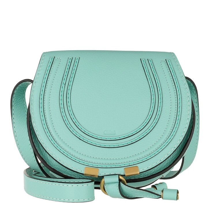 Handtasche, Chloé, Marcie Round Small Bag Crystal Water